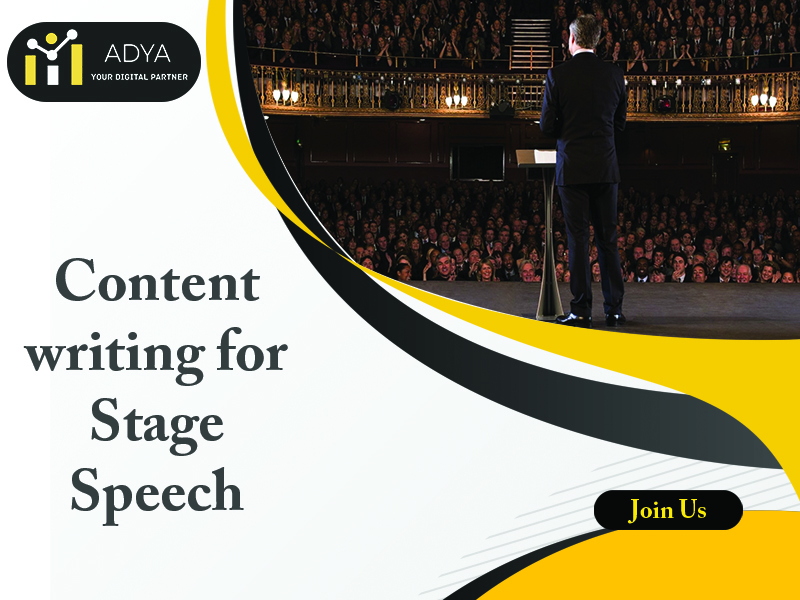 Content Writing for Stage Speech