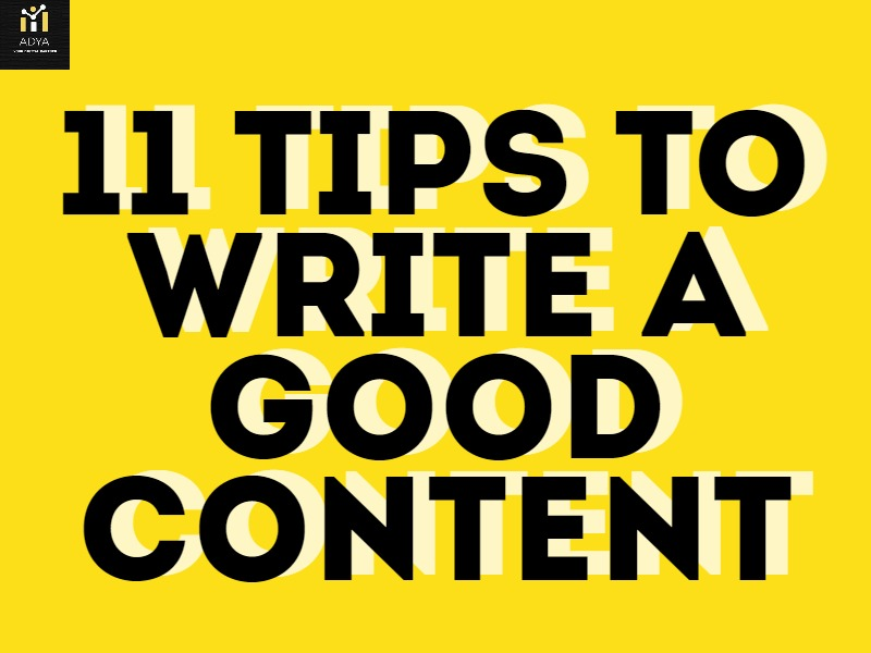 11 Tips to write a good content